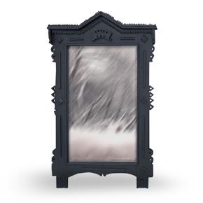 PORTAL deep black Karl наличник-зеркало.