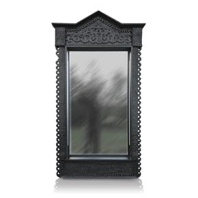 PORTAL deep black LED наличник-зеркало с подсветкой.